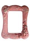 Fotografii rama na różowym polki kropki tle Zdjęcie Royalty Free