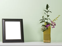 Fotografii rama na stole zdjęcia stock