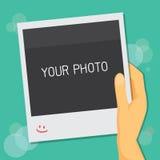 Fotografii rama W ręce Zdjęcia Stock