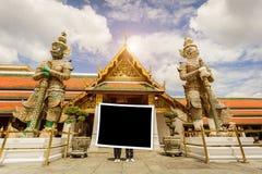 fotografii rama z punktem zwrotnym Bangkok Wat-pha-kaw ilustracji
