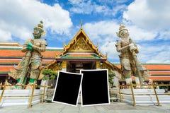 fotografii rama z punktem zwrotnym Bangkok Wat-pha-kaw royalty ilustracja