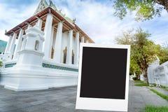 fotografii rama z Tajlandzką świątynią, Bangkok Tajlandia royalty ilustracja