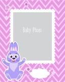 Fotografii ramy projekt Dla dzieciaków Z Ślicznym królikiem Dekoracyjny szablon Dla dziecko wektoru ilustraci ilustracja wektor