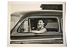 fotografii samochodowe stare kobiety Obraz Stock