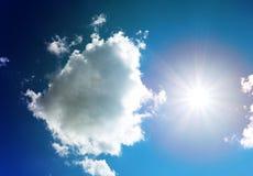 Fotografii słońca chmury i niebo Obraz Royalty Free