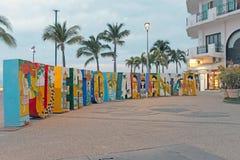 Fotografii sposobność along w malecon w Puerto Vallarta, Meksyk Obraz Stock