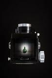 Fotografii strzelanina z rocznik analogową kamerą. zdjęcia stock