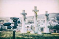 Fotografii tripod i Kalwaryjski w Nitra, Sistani, analogowy filtr zdjęcie stock