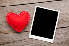 Fotografii valentines i rama bawimy się serce Obraz Stock