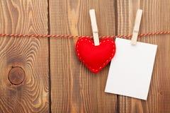 Fotografii valentines i rama bawimy się serce Fotografia Royalty Free