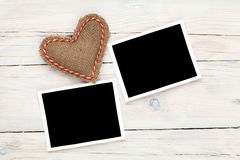 Fotografii valentines i ramy bawją się serce Fotografia Stock