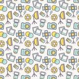 Fotografisch naadloos patroon Het kan voor prestaties van het ontwerpwerk noodzakelijk zijn Stock Afbeeldingen