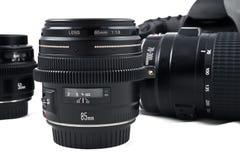Fotografische apparatuur Stock Afbeeldingen