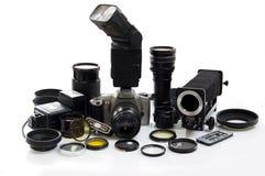 Fotografische apparatuur Royalty-vrije Stock Foto's