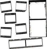 Fotografische film, filmstrepen, fotokaders, vrije exemplaarruimte vector illustratie