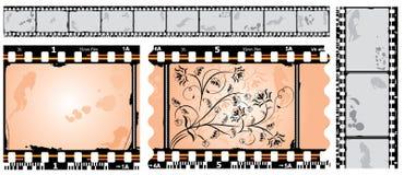 Fotografische film, filmstrip, vector Royalty-vrije Stock Afbeeldingen