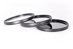 Fotografische filter, polarisator, UV, Nd Stock Fotografie