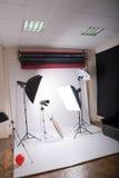 Fotografische studio Royalty-vrije Stock Foto's