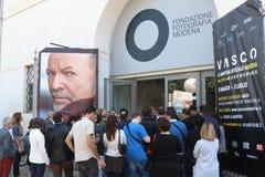 Fotografische tentoonstelling op het leven van Vasco Rossi Royalty-vrije Stock Afbeelding