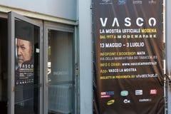 Fotografische tentoonstelling op het leven van Vasco Rossi Stock Foto's
