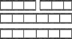Fotografisk film, filmband, fotoramar, utrymme för fri kopia, ve stock illustrationer