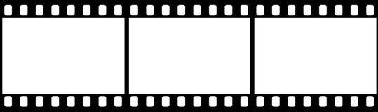 Fotografisk film i form av ramen på vit bakgrund vektor illustrationer