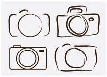 Fotografisk kamera vektor illustrationer