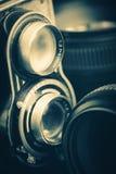 Fotografisk utrustning för tappning Arkivfoton