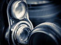 Fotografisk utrustning för tappning Royaltyfri Foto