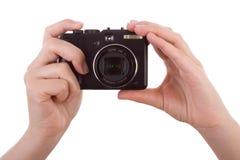 fotografiska digitala händer för kamera Royaltyfri Fotografi