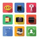 Fotografisymbolsuppsättning fotografering för bildbyråer