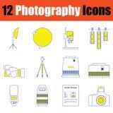 Fotografisymbolsuppsättning arkivbilder