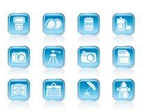 Fotografiutrustningsymboler Arkivbilder