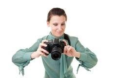 fotografkvinna Arkivbild