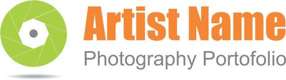 Fotograflogo arkivbild