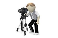 fotografo 3D con la macchina fotografica Fotografia Stock Libera da Diritti