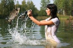 Fotografo in acqua Fotografia Stock