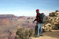 Fotografo al grande canyon Immagini Stock Libere da Diritti