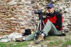 Fotografo all'aperto Immagine Stock