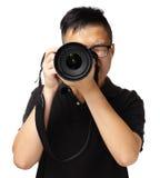 Fotografo asiatico Fotografia Stock