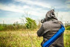 Fotografo che cattura un colpo Immagine Stock Libera da Diritti