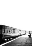Fotografo che prende le fotografie alla stazione di Karachi Cantt Fotografia Stock Libera da Diritti