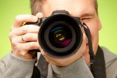 Fotografo con la macchina fotografica Fotografie Stock Libere da Diritti