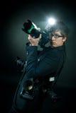 Fotografo con la macchina fotografica Immagini Stock Libere da Diritti