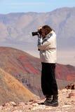 Fotografo Death Valley Fotografia Stock Libera da Diritti