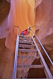 Fotografo del canyon dell'antilope Fotografia Stock