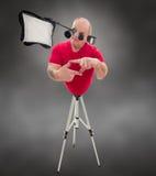 Fotografo del cyborg fotografia stock libera da diritti
