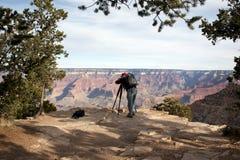 Fotografo del grande canyon Immagini Stock