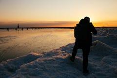 Fotografo del nord della spiaggia del viale Immagine Stock