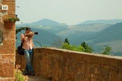 Fotografo del paesaggio e della natura in Toscana Fotografie Stock